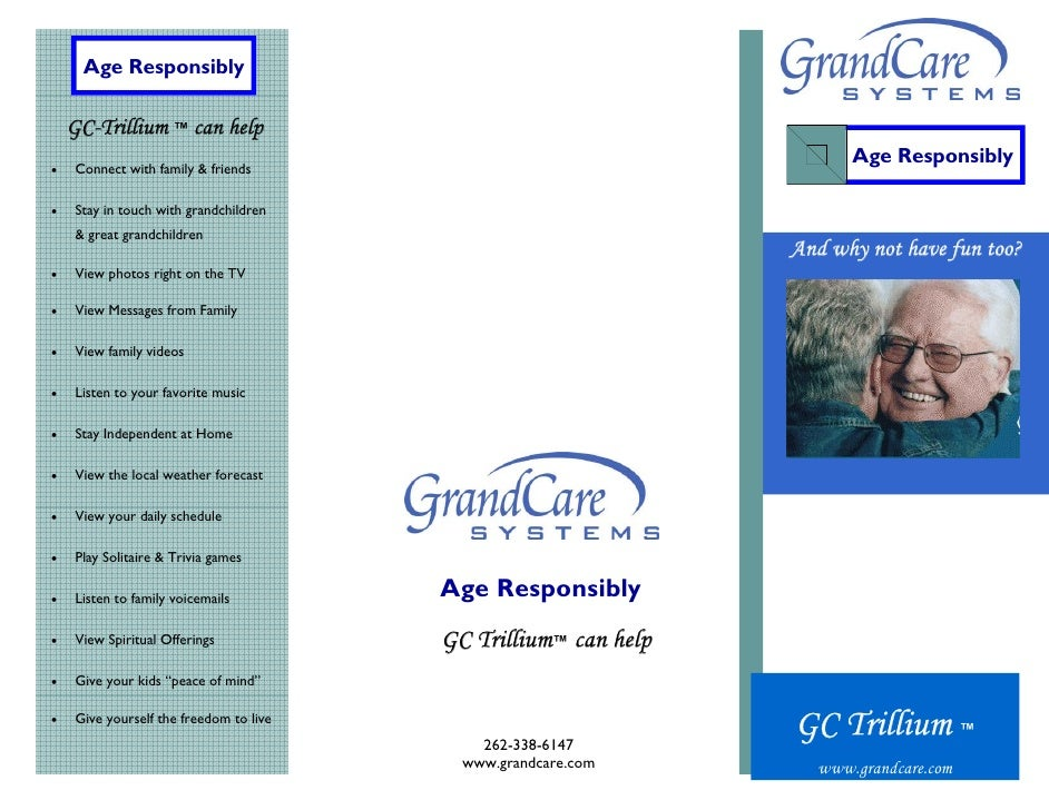 Age Responsibly      GC-Trillium ™ can help                                                                       Age Resp...