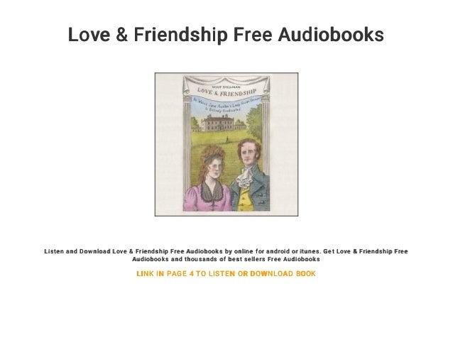 Love Friendship Free Audiobooks