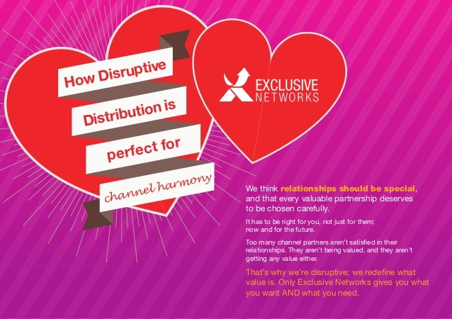 How Disruptive Distribution is perfect for channel harmony We think relationships should be special, and that every valuab...