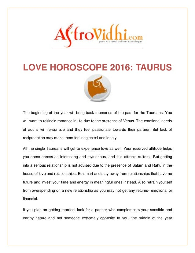 taurus and pisces relationship 2016 horoscope