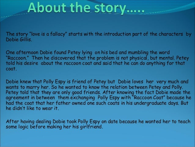 summary of love is a fallacy
