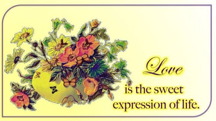 Love is  the sweet ...