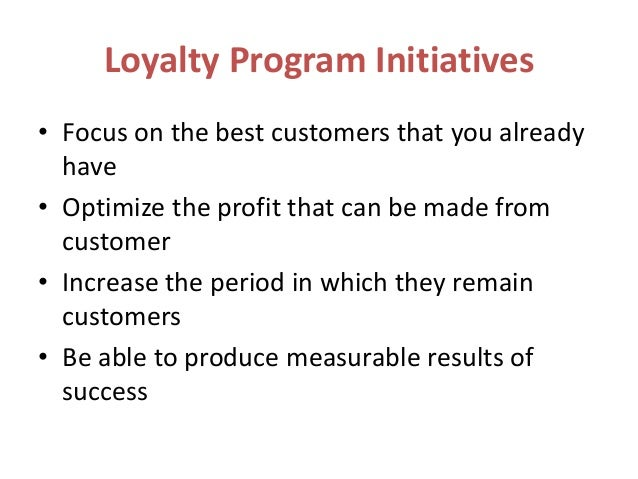 the impact of loyalty programs on The prime objective of the research is to identify the impact of loyalty cards on  consumer purchase behavior, the factors affecting customer's loyalty and to find.