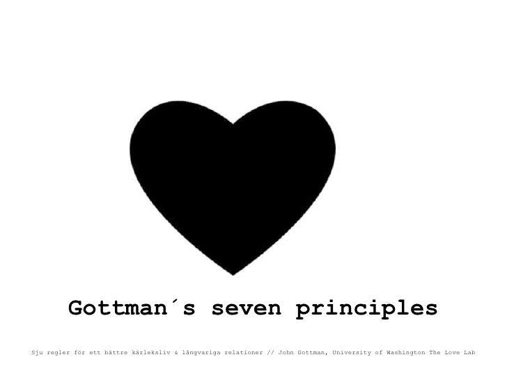 Gottman´s seven principles Sju regler för ett bättre kärleksliv & långvariga relationer // John Gottman, University of Was...