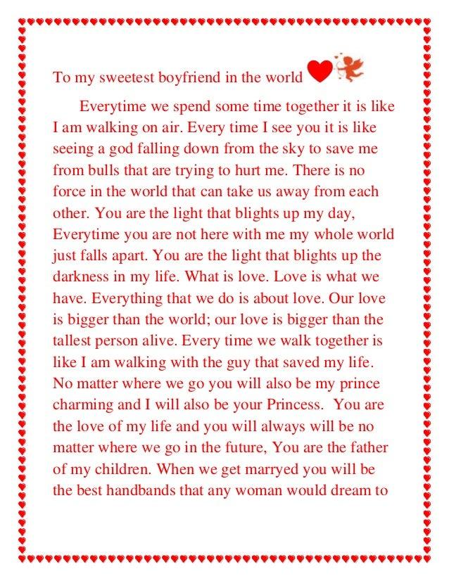 Birthday Love Letter To Girlfriend