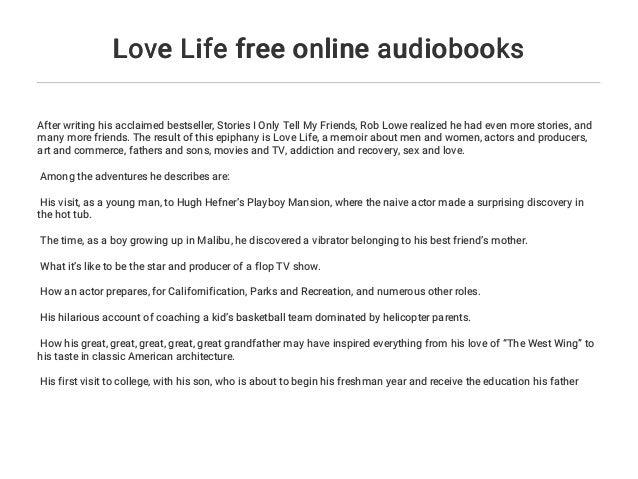Love Life free online audiobooks
