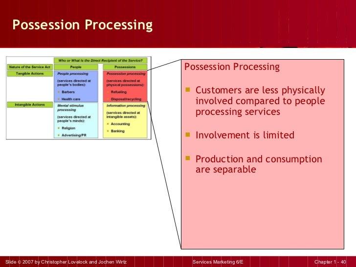 Possession Processing <ul><li>Possession Processing </li></ul><ul><li>Customers are less physically involved compared to p...
