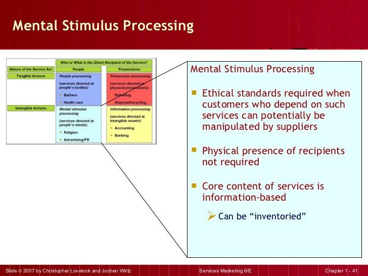 Mental Stimulus Processing <ul><li>Mental Stimulus Processing </li></ul><ul><li>Ethical standards required when customers ...