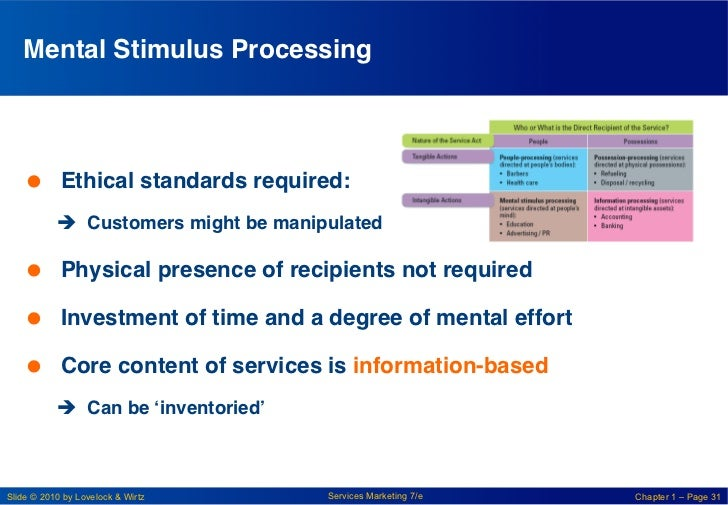 Mental Stimulus Processing!    Ethical standards required:!           è Customers might be manipulated!    Physical ...