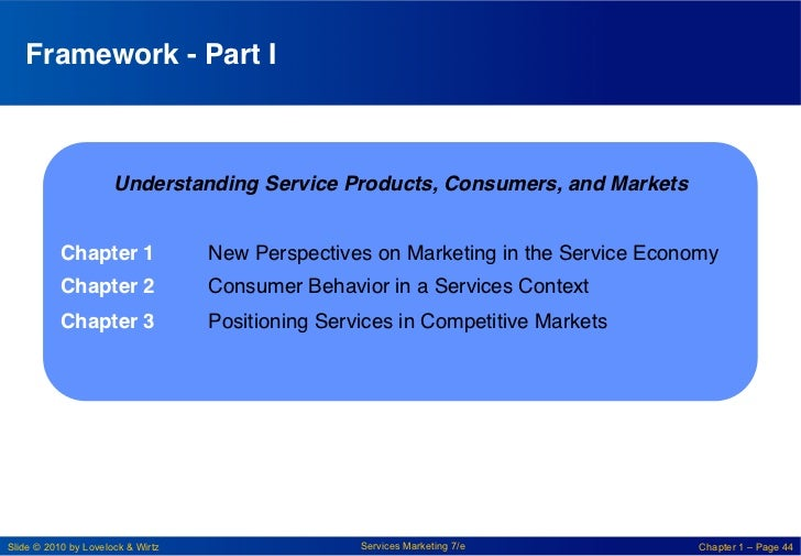 """Framework - Part I!                      Understanding Service Products, Consumers, and Markets!            """"           Ch..."""