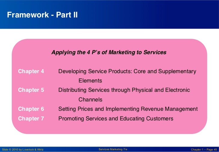"""Framework - Part II!                                   Applying the 4 P's of Marketing to Services!             """"         ..."""