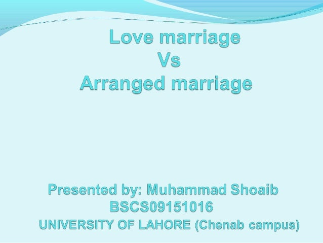 the advantages of arranged marriage