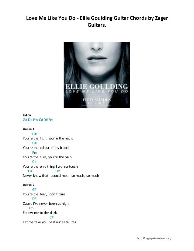 Love Me Like You Do Ellie Goulding By Zager Reviews