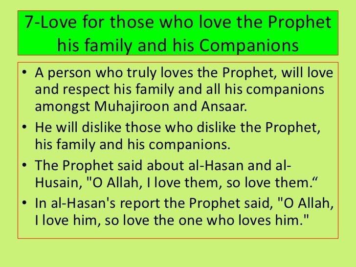 The Love of The Sahabah for the Prophet Muhammad (SAW)