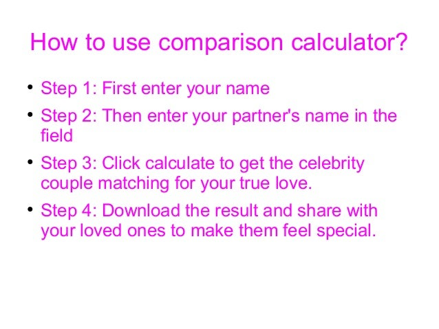 love pair comparison calculator