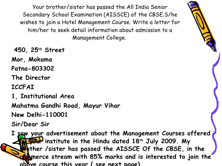Business Letter Writing Format Cbse Class 11 Business Letters