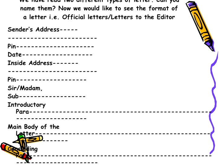 topics for grade 10 letter writing format of formal letter