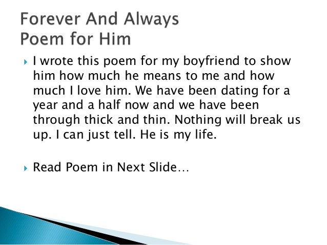 Love poems for him after a break up