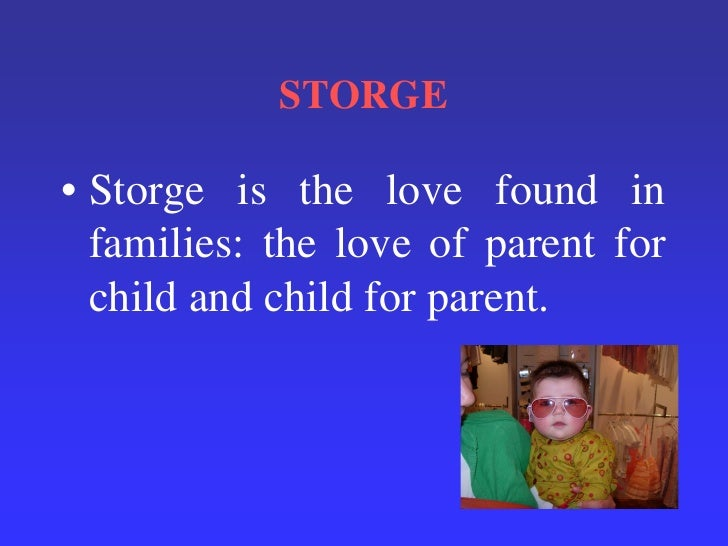 what is storge love