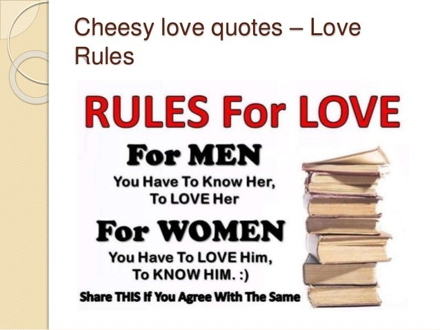 Cheesy Love Quotes U2013 Love Rules ...