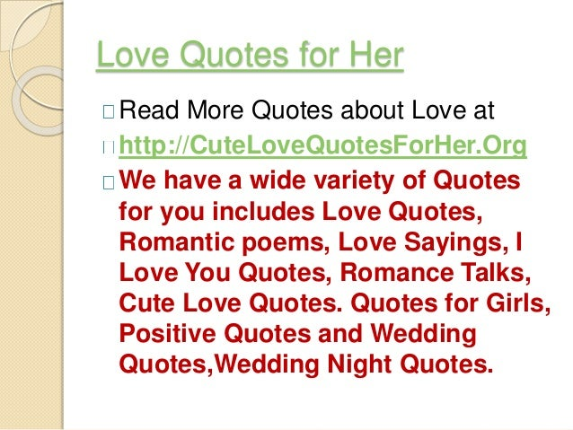 Quotes Of Love For Her Love Quotes for...