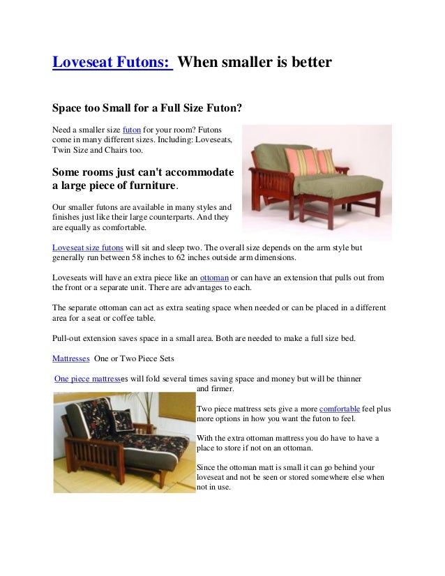 Peachy Loveseat Futons A Small Space Solution Evergreenethics Interior Chair Design Evergreenethicsorg