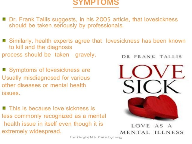 Love sickness definition