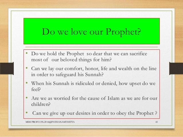 Love the prophet