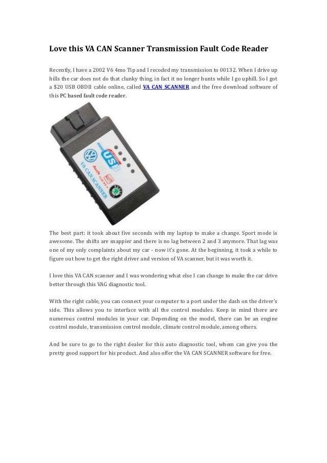 Love this va can scanner transmission fault code reader1