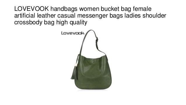 cb637055442 LOVEVOOK handbags women bucket bag female artificial leather casual  messenger bags ladies shoulder crossbody bag high ...