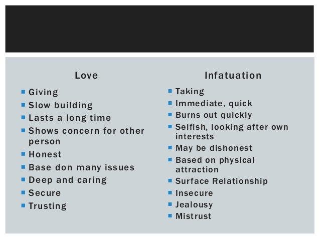 Real love vs infatuation