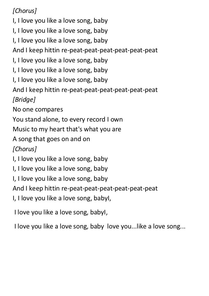 i love you song