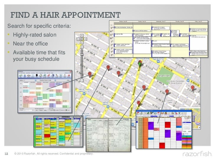 FIND A HAIR APPOINTMENT  Search for specific criteria:  • Highly-rated salon  • Near the office  • Available time that fit...
