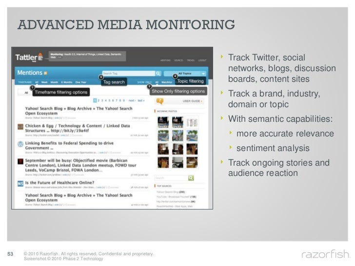 ADVANCED MEDIA MONITORING                                                                              ‣ Track Twitter, so...