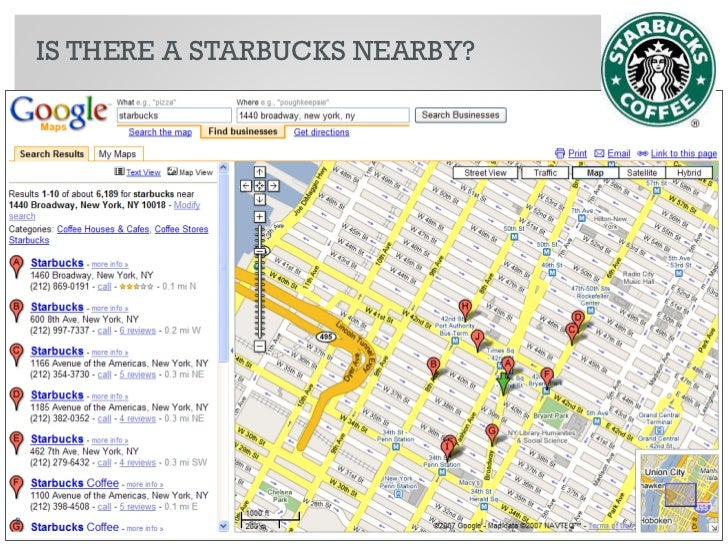 IS THERE A STARBUCKS NEARBY?     9   © 2010 Razorfish. All rights reserved. Confidential and proprietary.
