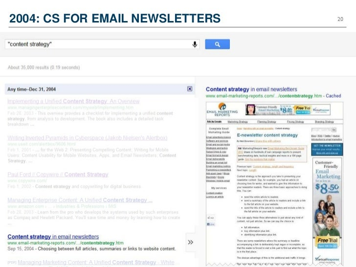 2004: CS FOR EMAIL NEWSLETTERS   20