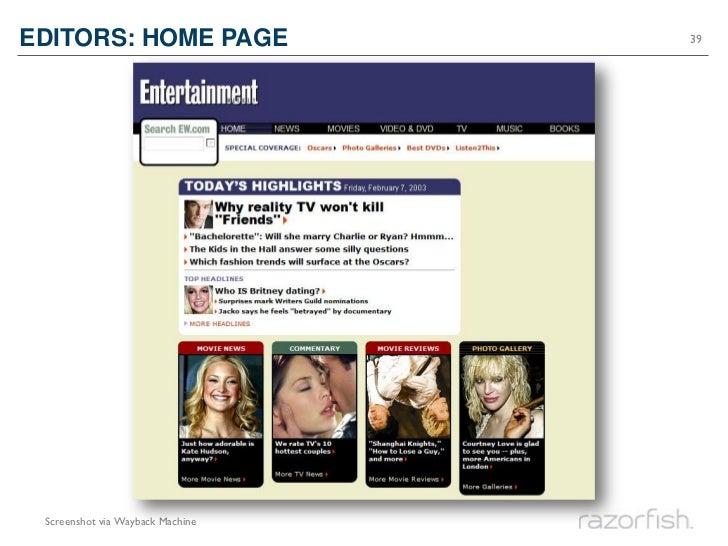 EDITORS: HOME PAGE                39 Screenshot via Wayback Machine