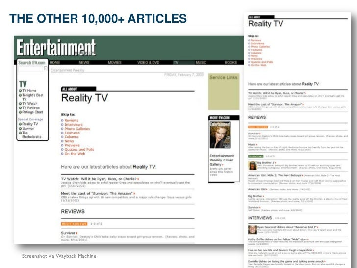 THE OTHER 10,000+ ARTICLES        40 Screenshot via Wayback Machine