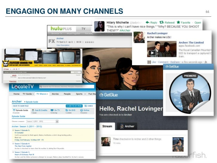 ENGAGING ON MANY CHANNELS                66 ©2012 Razorfish. All rights reserved.