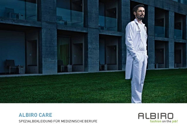 Spezialbekleidung für medizinische Berufe ALBIRO CARE