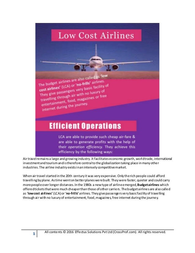1 All contents © 2016 Effectus Solutions Pvt Ltd (CrossProf.com). All rights reserved. Airtravel remainsa large andgrowing...