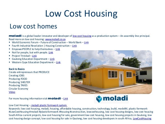 Low cost housing construction building