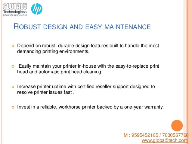 Low cost operation, around the clock - HP D 5800 printer