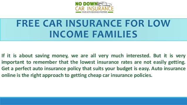 Find The Best Low Income Car Insurance Policy - Tips To ...