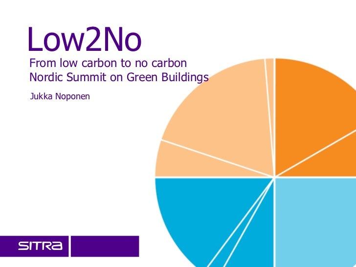 Low2NoFrom low carbon to no carbonNordic Summit on Green BuildingsJukka Noponen                                   27/05/20...