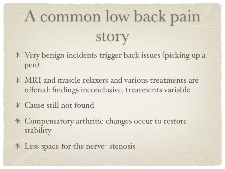 Low back pain ii slideshare - 웹