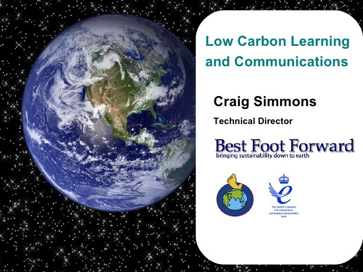 Craig Simmons Technical Director Low Carbon Learning and Communications