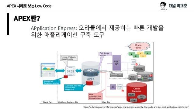 (알도개) APEX 사례로 보는 Low Code Slide 3