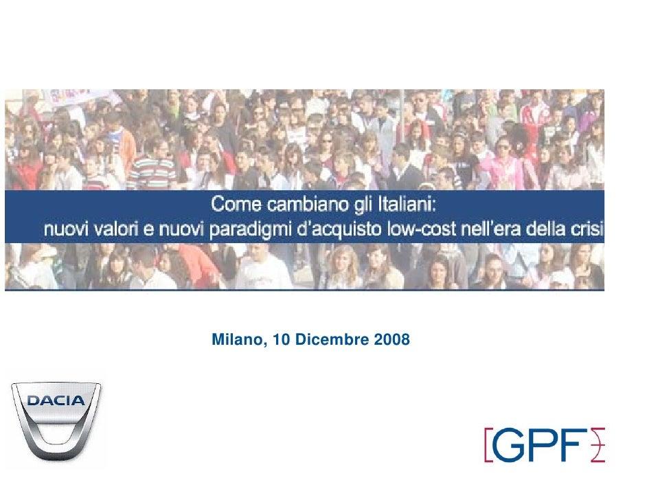 Milano, 10 Dicembre 2008