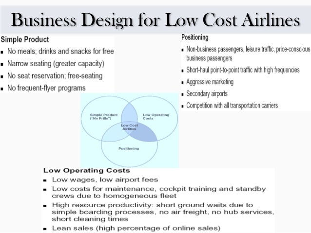 low cost airlines strategy One strategy is to look to new customer segments: not only the leisure travellers that have fuelled much lcc growth, but also to higher-value business travellers this may require low-cost airlines to diversify their business models and take new approaches to distribution a number of lccs are already adopting this strategy: for example.